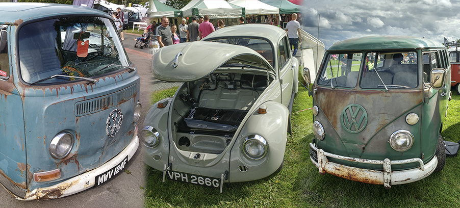 Photographs of Gauges and VW Campers at Busfest 2017