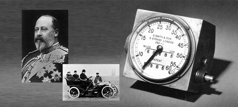 The First Smiths Speedometer for King Edward VII in 1904