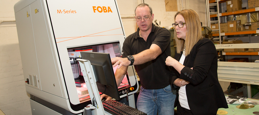 CAI Purchase New Laser Etching Machine